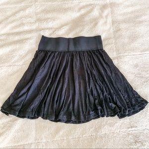 Black Mini Skirt Skater Style Size 4 Small